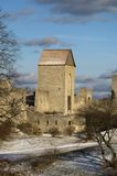 Old city wall. Scenic view of old city wall, Visby, Gotland Island, Sweden Stock Photos