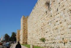 Old City Wall. Old City exterior wall near Jaffa gate, Old City Jerusalem Israel Royalty Free Stock Photos