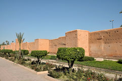 Old city wall in Marrakech Stock Photo