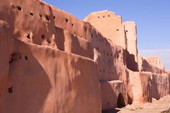 Old city wall in Marrakech Royalty Free Stock Photography