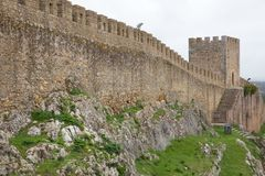Old City wall in Obidos, Portugal. Old City wall in Obidos, in Portugal Royalty Free Stock Image