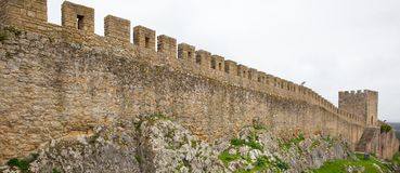 Old City wall in Obidos, Portugal. Old City wall in Obidos, in Portugal Stock Photo
