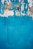 Old city wall painted in blue color copyspace Royalty Free Stock Photo