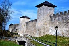 Old city wall of Salzburg Stock Photo