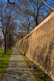 Old city wall of Sibiu city, Transylvania, Romania royalty free stock photos