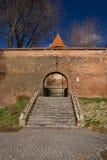 Old city wall of Sibiu city, Transylvania, Romania stock image