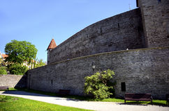 Old city Wall Tallinn Estonia Stock Image
