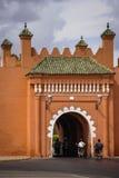 Old city walls. Bab El Arhdar. Marrakesh . Morocco. The old city walls and gate Bab El Arhdar. Marrakesh . Morocco Royalty Free Stock Photography