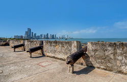 Old City walls in Cartagena, Colombia royalty free stock photos