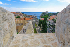 Old City Walls, Dubrovnik Stock Photo