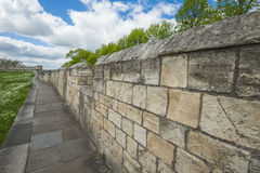 Old city walls in famous english town Stock Photos