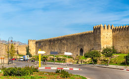 Old city walls of Fes, Morocco Royalty Free Stock Image