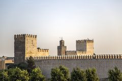 Old city walls in Fez, Morocco Royalty Free Stock Photo