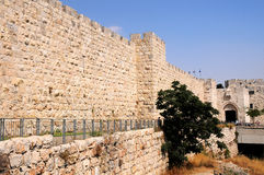 Old City walls. Jerusalem Old historic City walls Royalty Free Stock Photo
