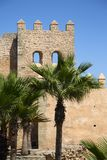 Old city walls in Rabat Stock Photography