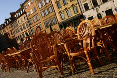 Old city in warsaw. City Old in warsaw. Mid-morning Royalty Free Stock Image