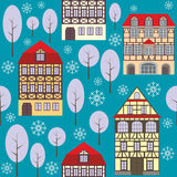 Old city winter pattern Stock Photos