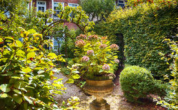 Old City Yard, Dutch House Garden Royalty Free Stock Photos