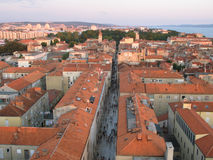 Old city of Zadar, Adriatic Coast Stock Image