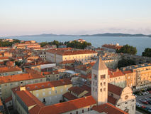Old city of Zadar, Adriatic Coast Royalty Free Stock Images