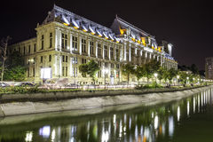 The old civic center of Bucharest, near Dambovita river. stock images