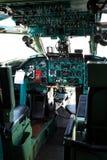 Old civil plane cabin Stock Photo