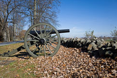 Old Civil War Cannon in Autumn Stock Image