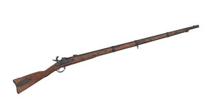 Old Civil War Musket isolated Stock Images