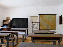 Old class room in an abandoned village school Royalty Free Stock Photos