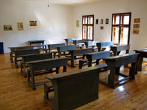 Old class room in a village school Stock Images