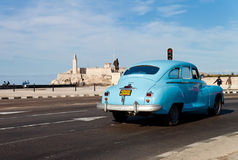 Old classic american car in Havana Royalty Free Stock Photography