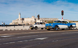 Old classic american car in Havana Royalty Free Stock Images