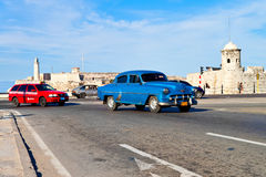 Old classic american car in Havana Royalty Free Stock Photo