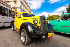 Old classic american car, an icon of Havana. HAVANA-JANUARY 15:Classic Ford January 15,2012 in Havana.Before a new law issued on October 2011,cubans could only Stock Photography