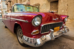 Old classic american car, an icon of Havana. HAVANA-JANUARY 15:Classic Chevrolet January 15,2012 in Havana.Before a new law issued on October 2011,cubans could Stock Photo