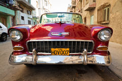 Old classic american car, an icon of Havana Stock Image