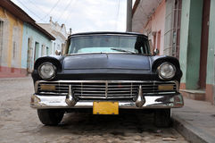 Old classic american car parked in Cuba Stock Photos