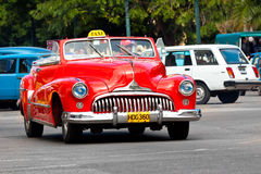 Old classic american car in the streets of Havana. HAVANA-JANUARY 15:Classic american cars January 15,2012 in Havana.Before a new law issued on October 2011 Stock Images