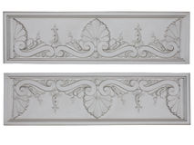 Old classic architecture white floral decorative panel isolated Royalty Free Stock Photos