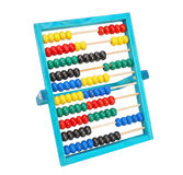 Old classic arithmetic abacus.  Different colors on a white back Royalty Free Stock Photos