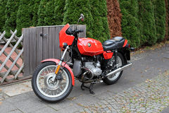 Old classic BMW R45 Motorcycle stock image