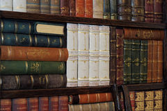 Old classic books on bookshelf Royalty Free Stock Images