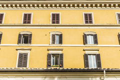 Old classic building in Rome, Italy Stock Image
