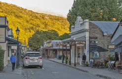 Old classic buildings and shops on Buckingham Street in the historic town of Arrowtown Royalty Free Stock Photo
