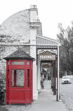 Old classic buildings and shops on Buckingham Street in the historic town of Arrowtown. Arrowtown, New Zealand - February 2016: Old classic buildings and shops Royalty Free Stock Image