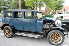 The old classic car. At the road show Stock Photo