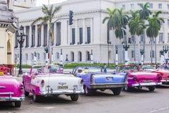 Old classic car in Cuba Stock Image