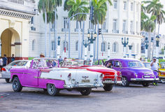 Old classic car in Cuba Royalty Free Stock Photos