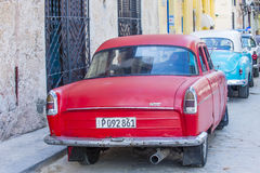 Old classic car in Cuba Royalty Free Stock Image