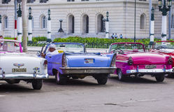 Old classic car in Cuba Royalty Free Stock Images